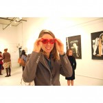 Margot Rogers heart glasses