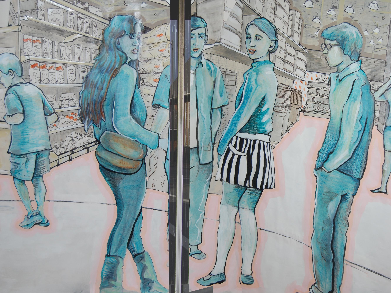 Revitalization Mural Figures Closeup