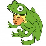 frog child illustration