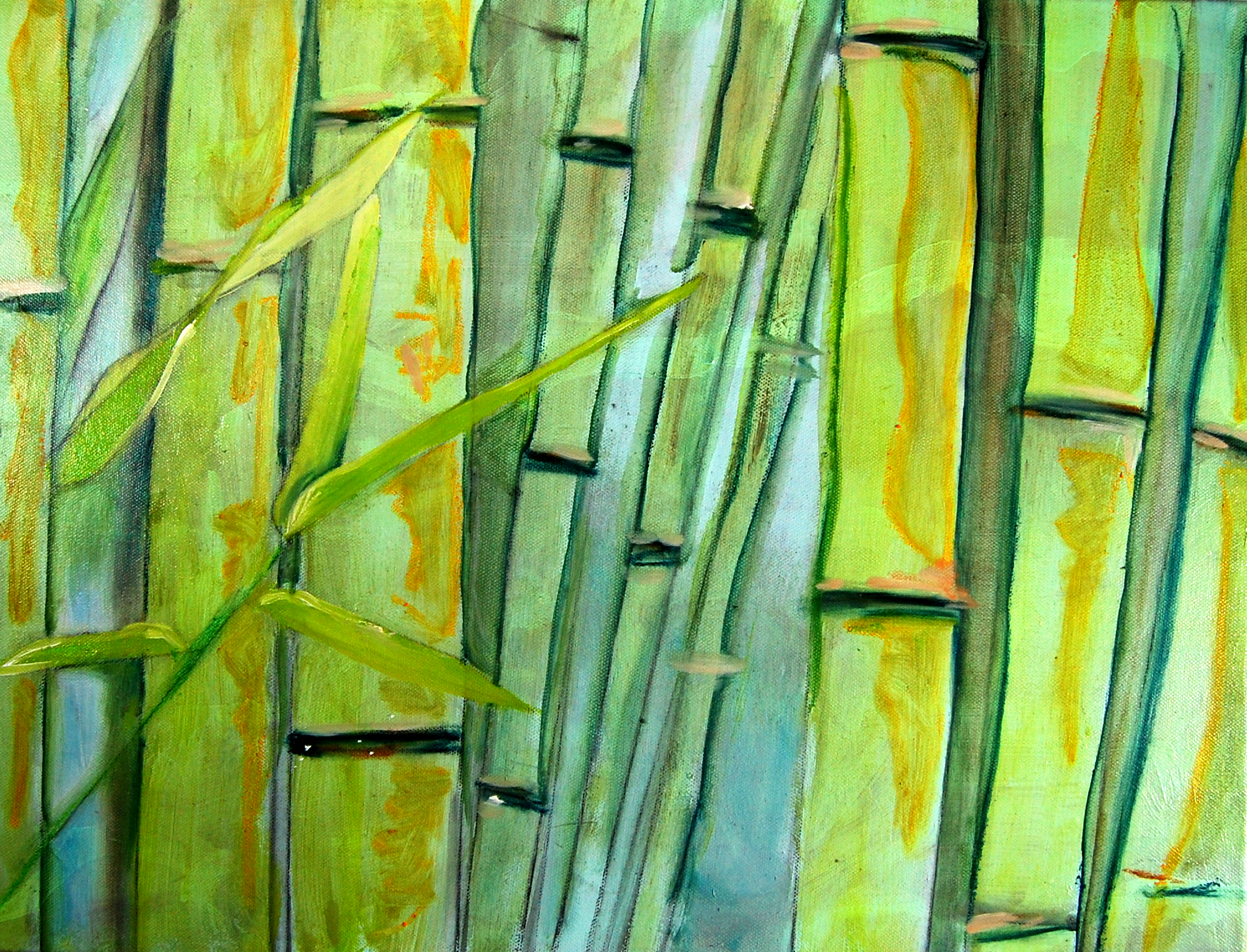 Bamboo Fine Art Painting